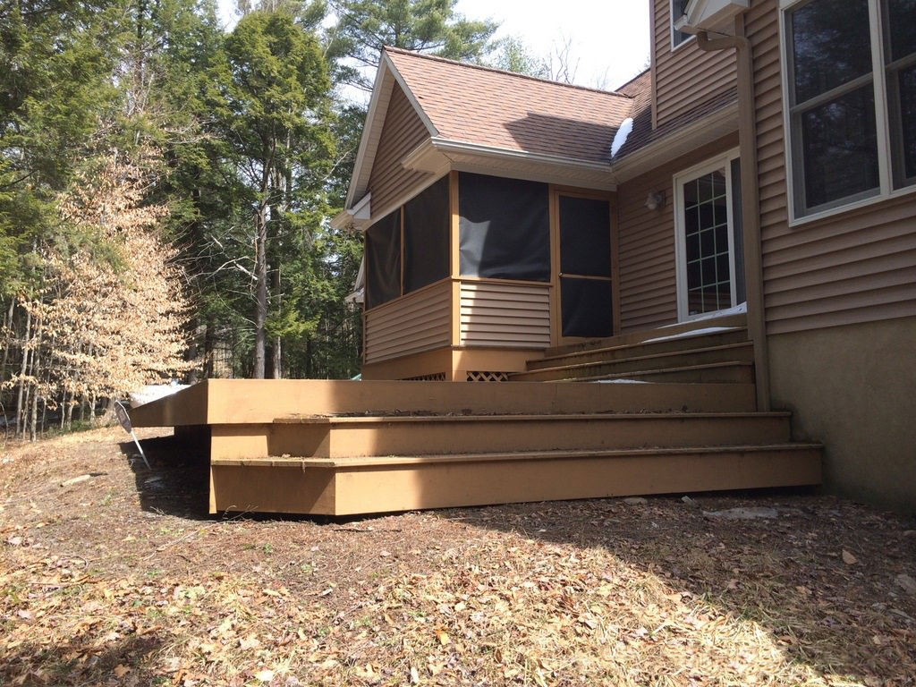 There were just too many stairs to contend with in this existing deck; it had to go!