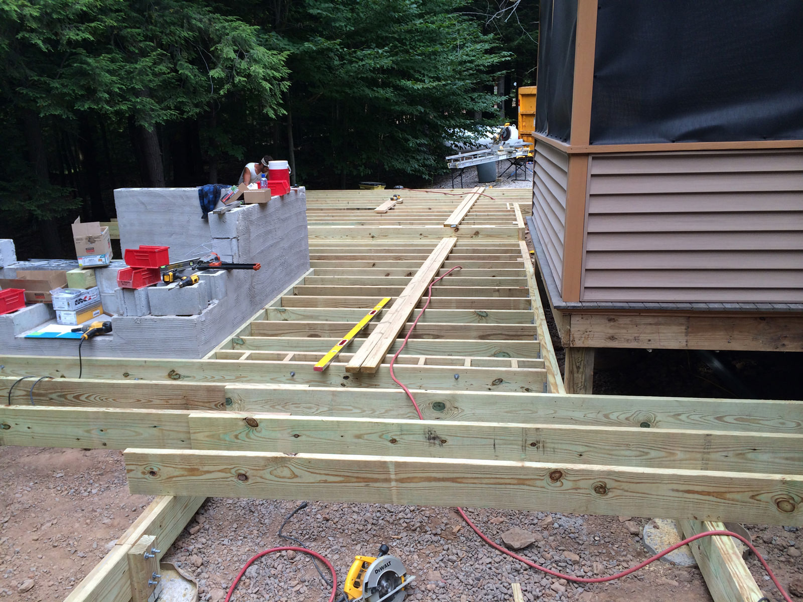 The fun begins when we start the deck and outdoor kitchen framing!