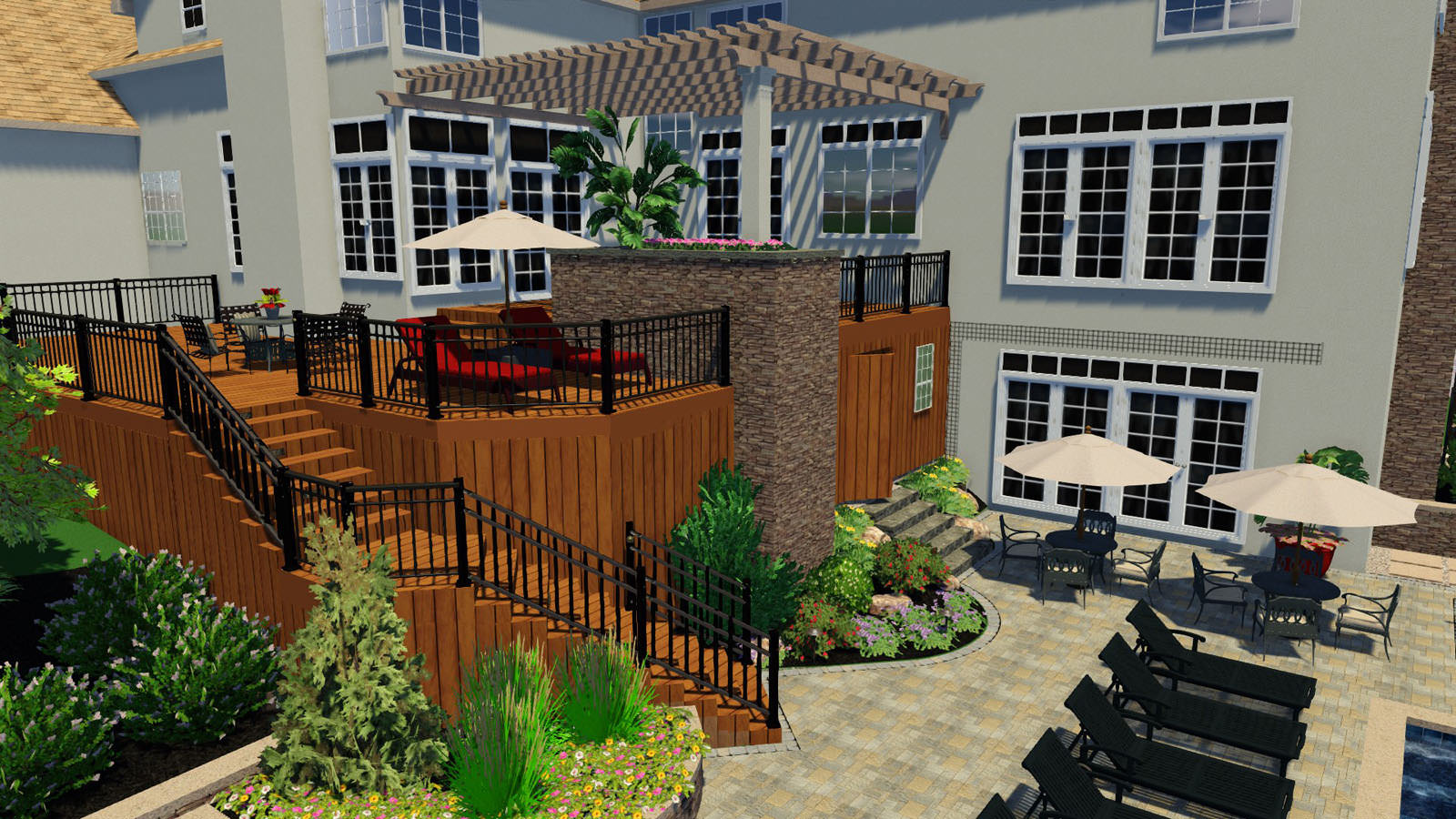 The homeowners were floored when we showed them the first glimpse into their new landscape design!