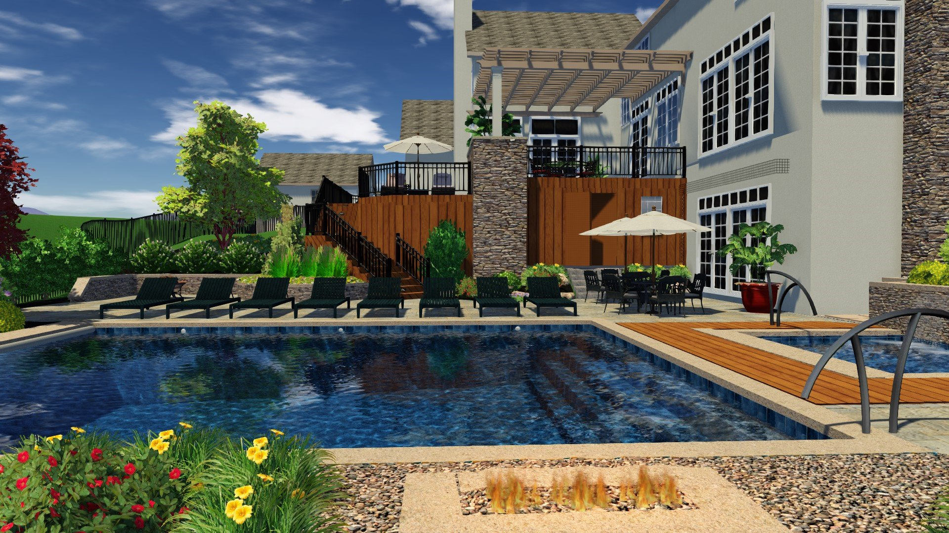 This 3D rendering makes us want to cannonball right into that water!