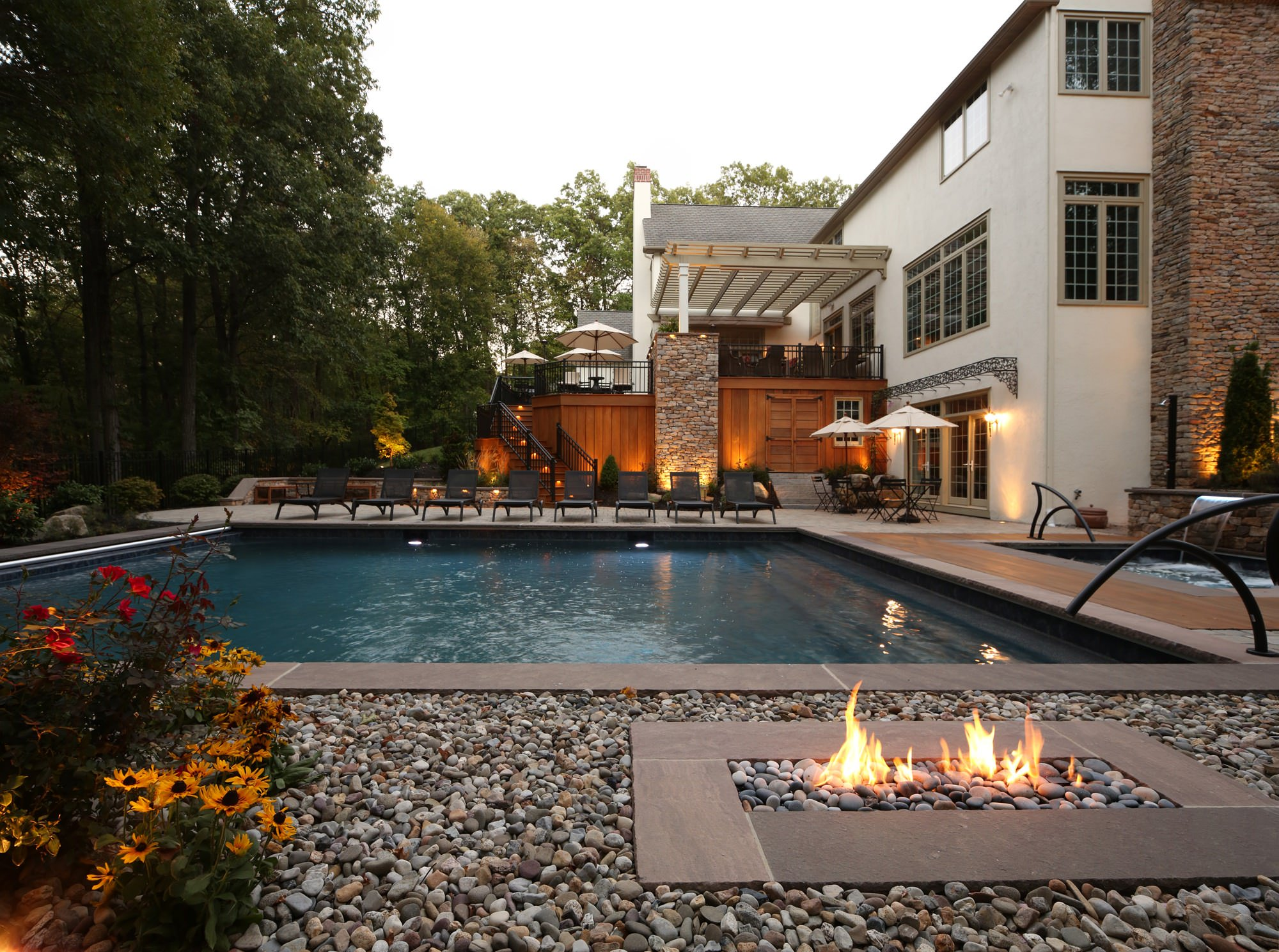 Earth, fire and water all combine to bring the hidden magnificence back to this property, creating the most outstanding oasis!