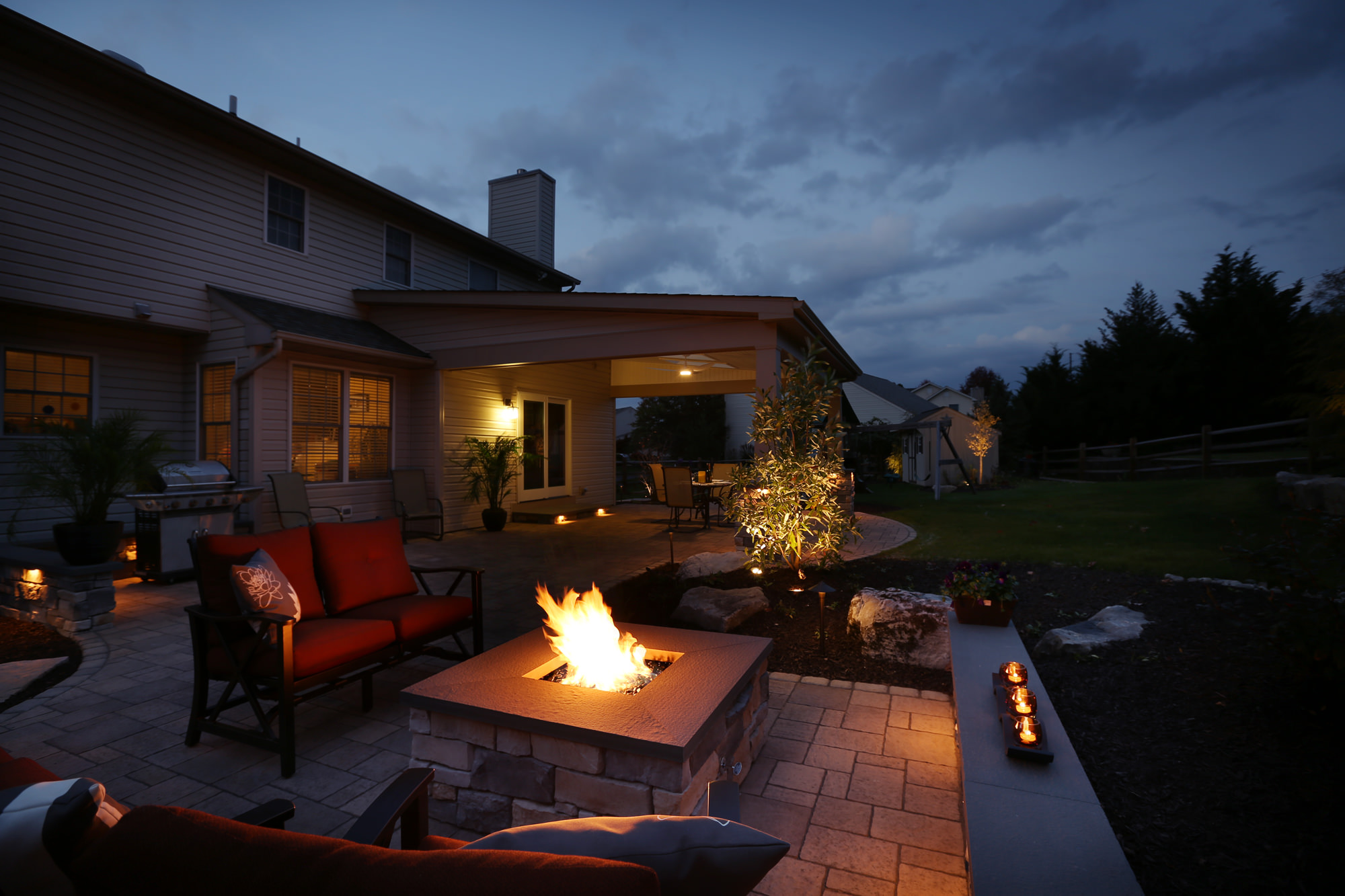 Can you picture your family gathering around this fire after the sun sets?