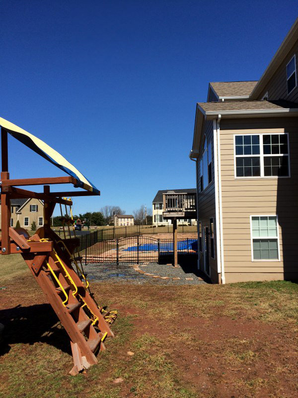 This backyard had an existing swimming pool, but the rest of the property was in dire need of reimagination!
