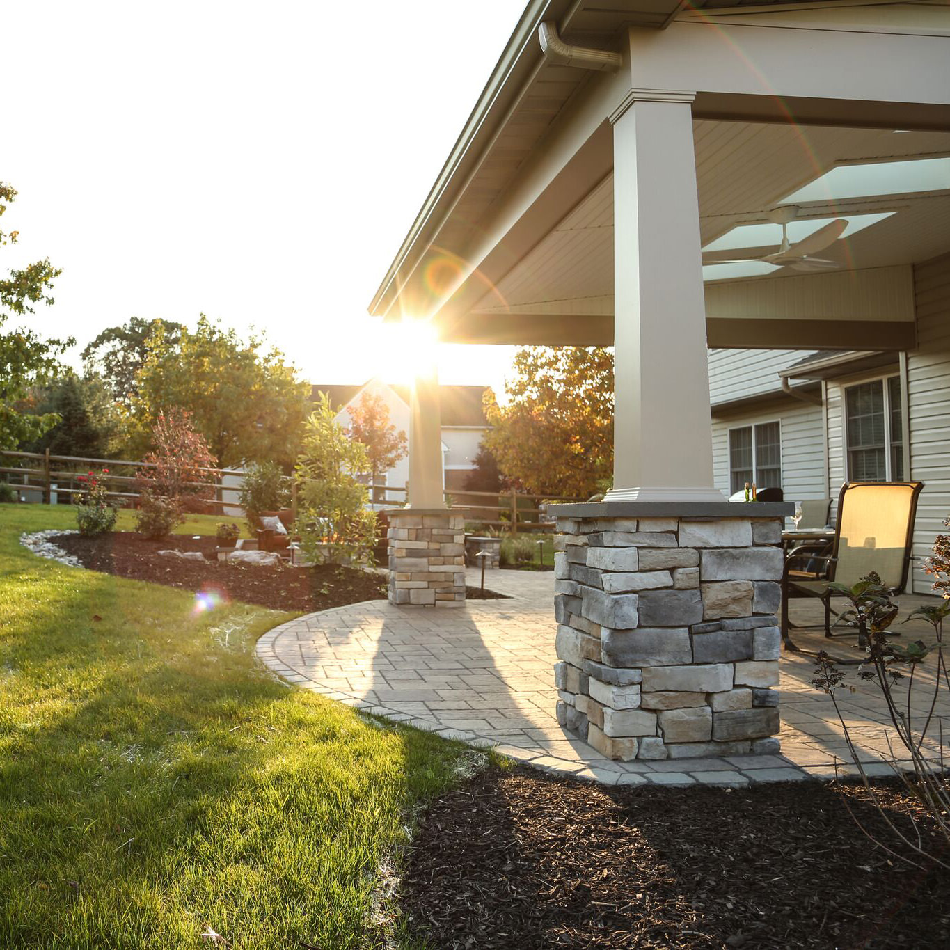 Open-concept landscape design is perfect for young and active families!