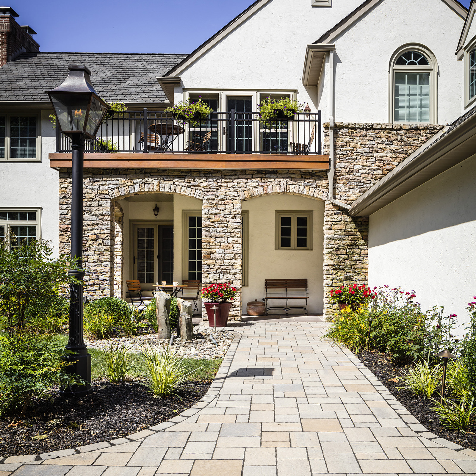 Stone, metal and wood beautifully enhance the look of this Center Valley home. Learn more about this MasterPLAN project…