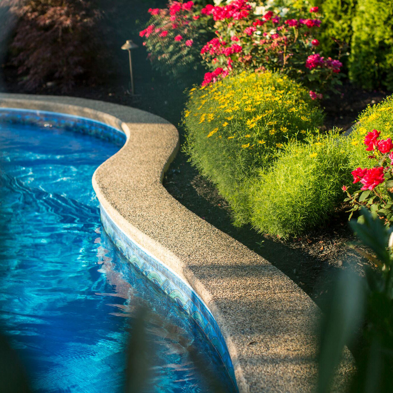 This Macungie landscape design provides the perfect balance for this professional couple and their young family…