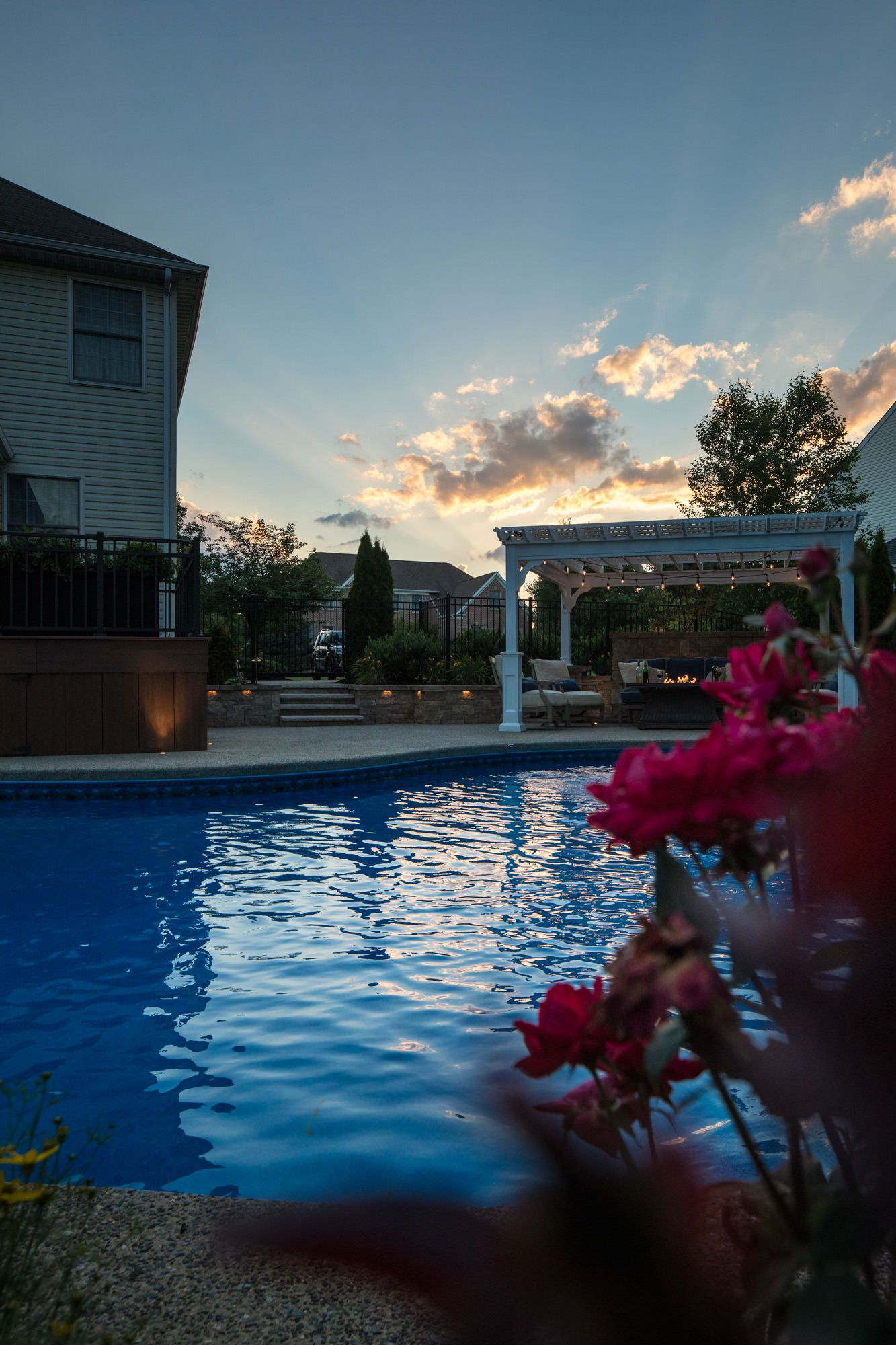 As the sun sets, these clients can sit back and thoroughly enjoy their time in their own backyard.