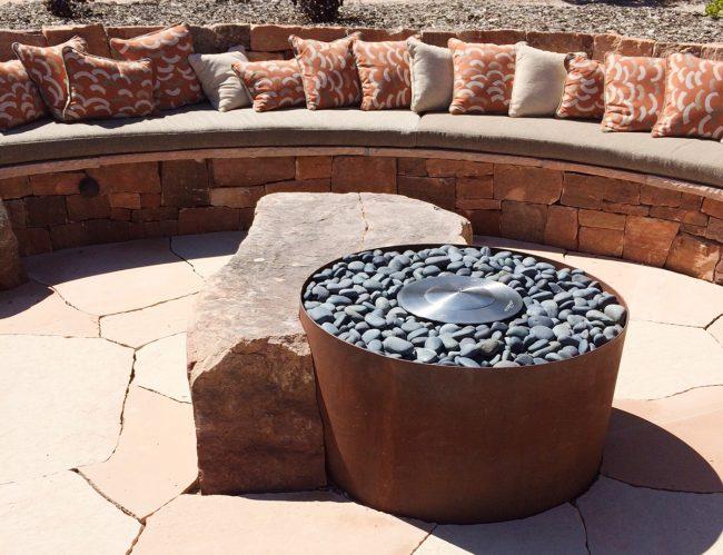 corten steel fire pit