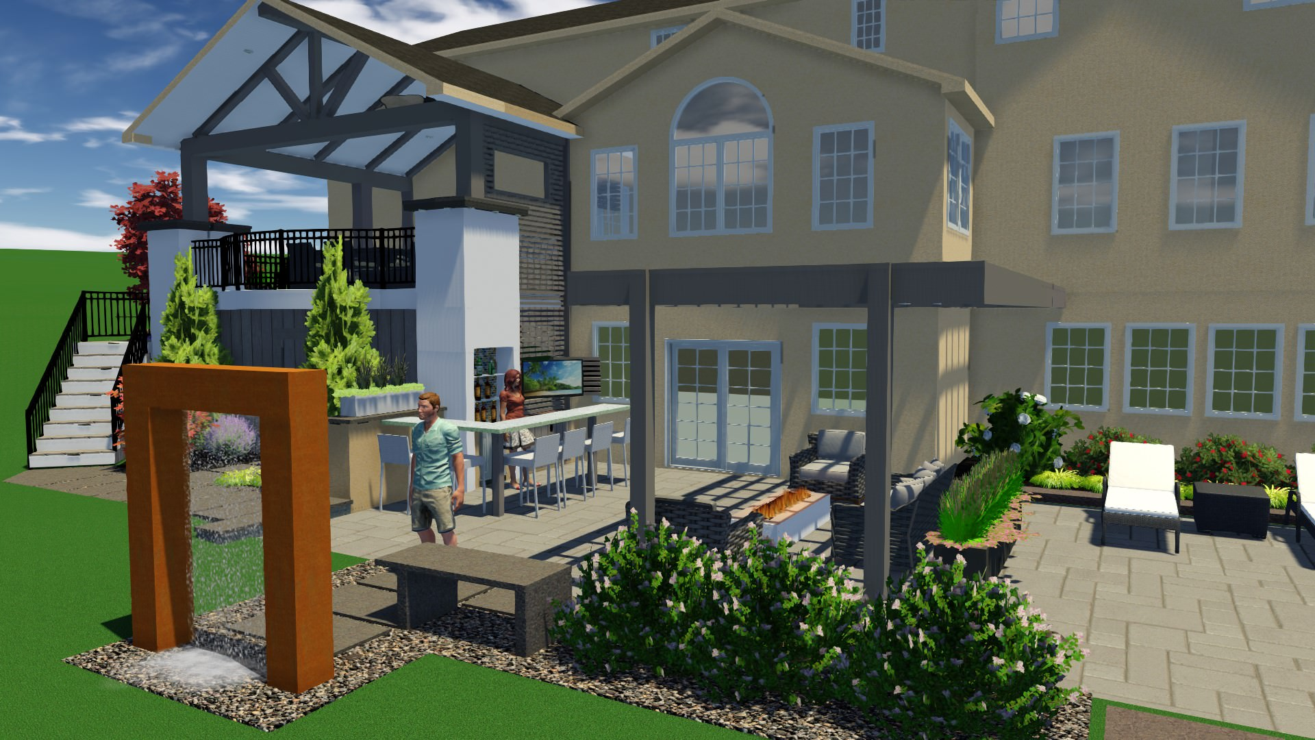 Careful planning went into incorporating all the homeowner's wishlist items into a beautiful and functional layout!