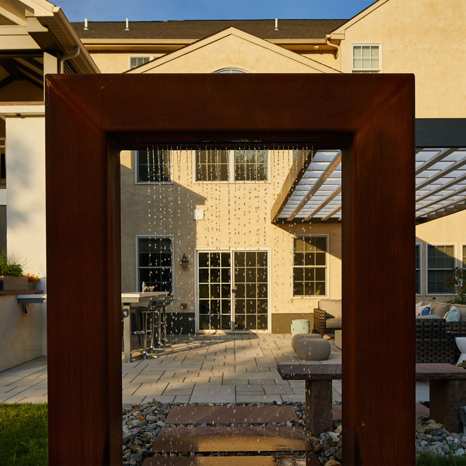 Perfect placement is everything, especially when it comes to focal points when viewed from inside the home!